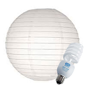 Rice Paper China Ball w KINO FLO bulb